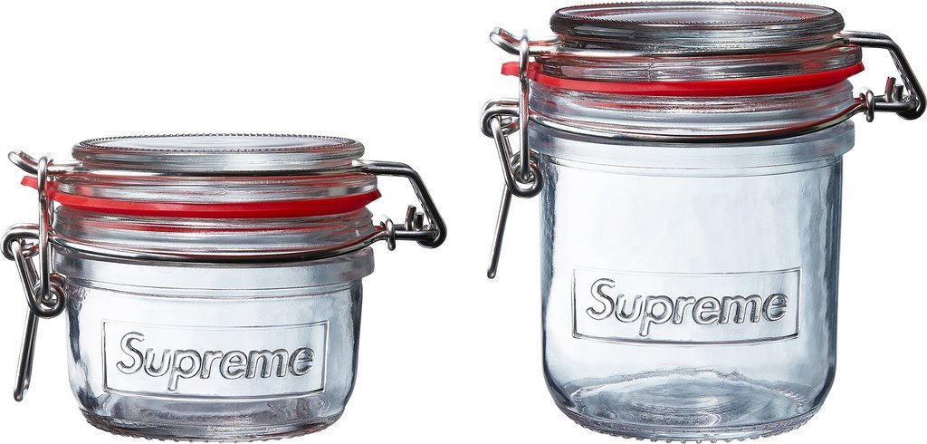 Supreme Jars (Set of 2)- Clear