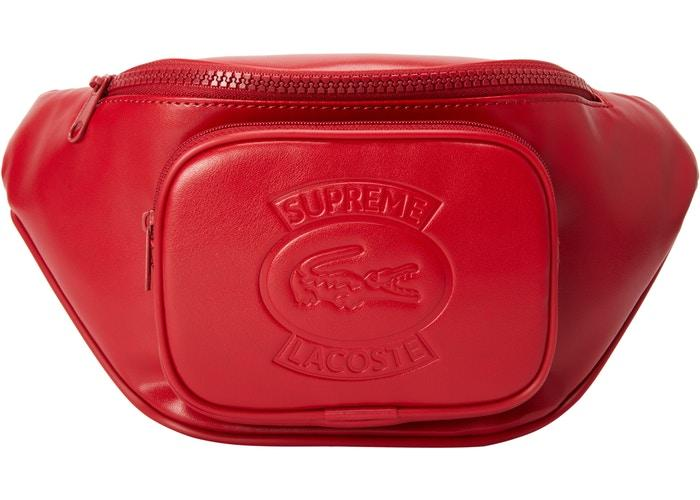 Supreme LACOSTE Waist Bag- Red