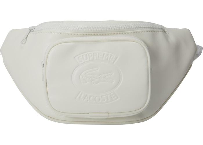 Supreme LACOSTE Waist Bag- White