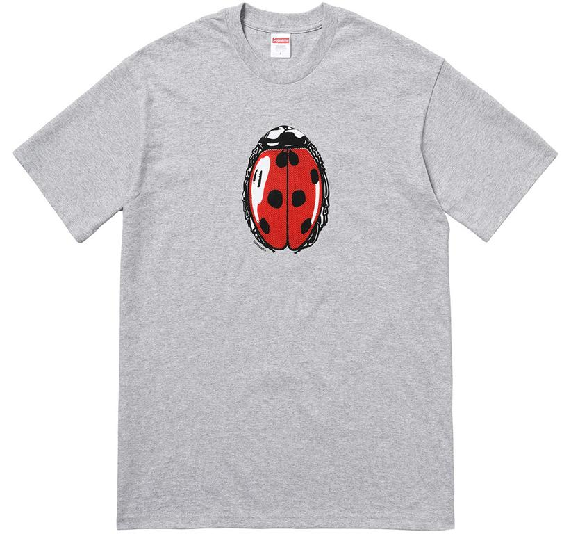 Supreme Ladybug Tee Heather Grey