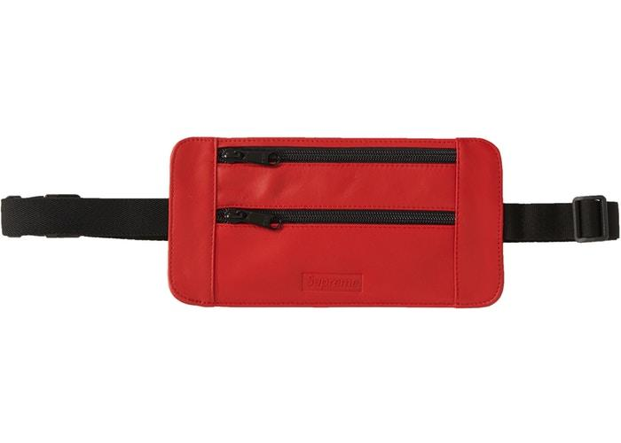 Supreme Leather Waist/Shoulder Pouch- Red