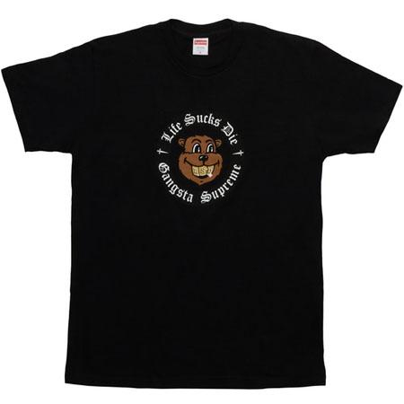 Supreme Life Sucks Die Tee- Black