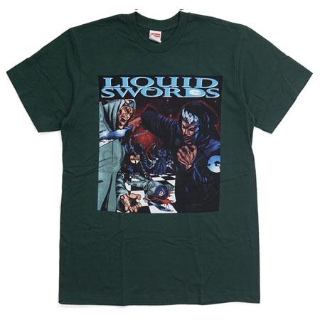 Supreme Liquid Swords Tee- Dark Green