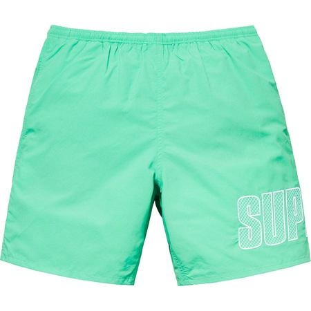 Supreme Logo Applique Water Short- Mint
