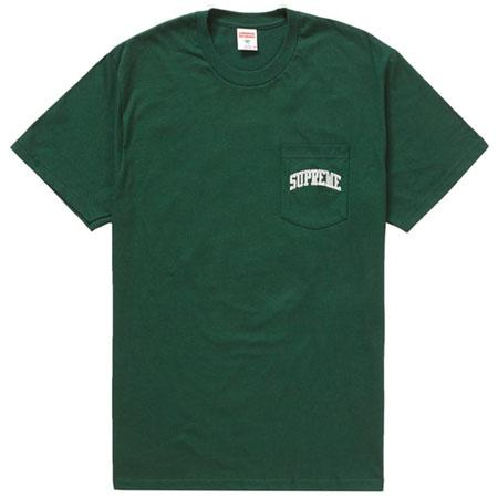 Supreme NFL x Raiders x '47 Pocket Tee- Dark Green