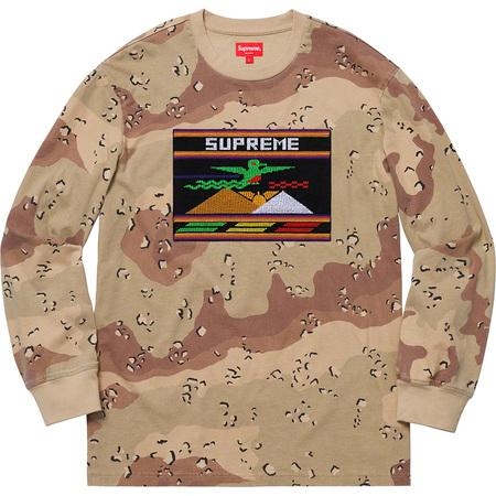 Supreme Needlepoint Patch LS Top- Chocolate Chip Camo