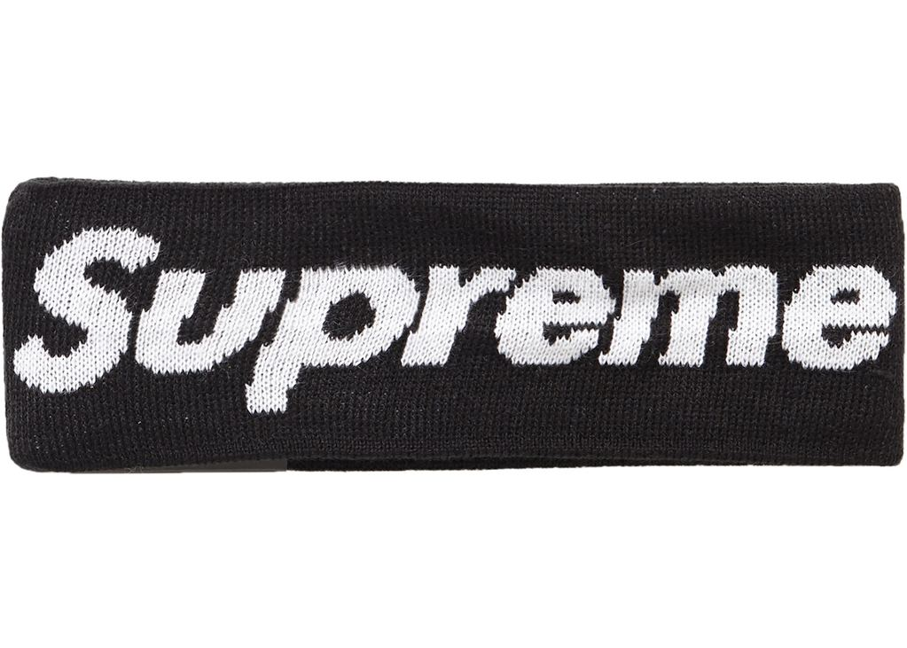 Supreme New Era Big Logo Headband (FW18)- Black