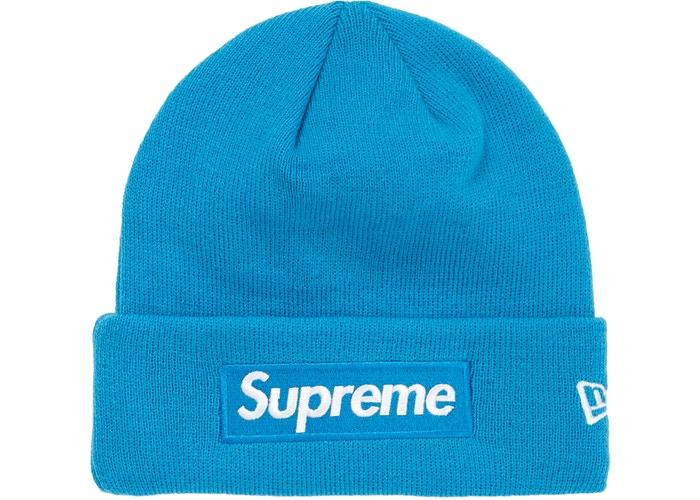 Supreme New Era Box Logo Beanie (FW18)- Bright Royal