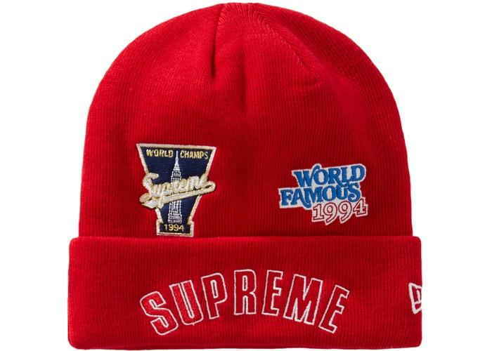 Supreme New Era Championship Beanie- Red