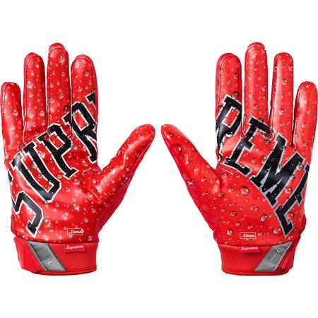 Supreme Nike Vapor Jet 4.0 Football Gloves- Red