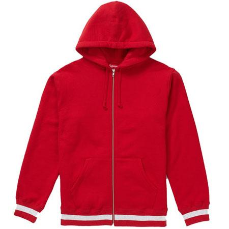 Supreme Old English Stripe Zip Up Sweatshirt- Red