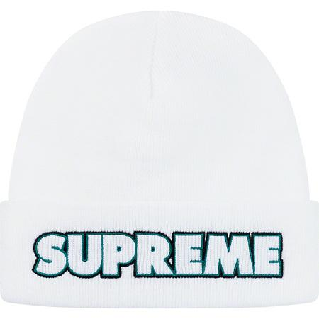 Supreme Outline Beanie- White
