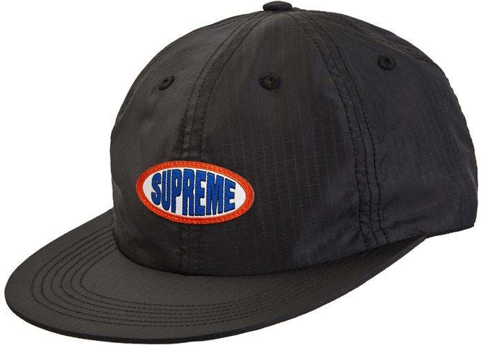 Supreme Oval Label 6-Panel- Black
