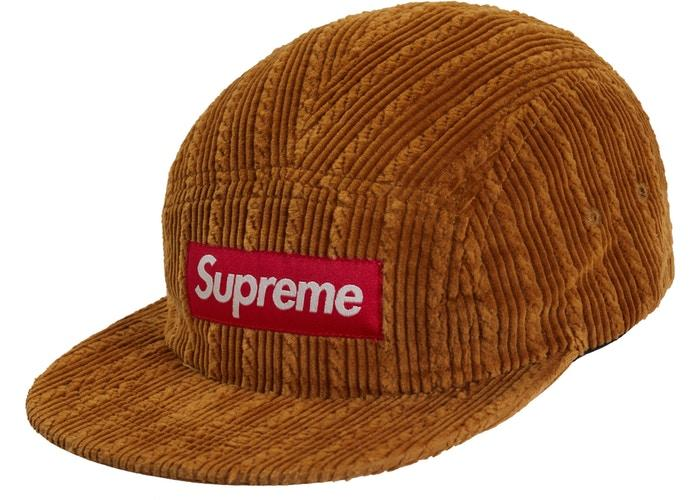 Supreme Rope Corduroy Camp Cap- Brown