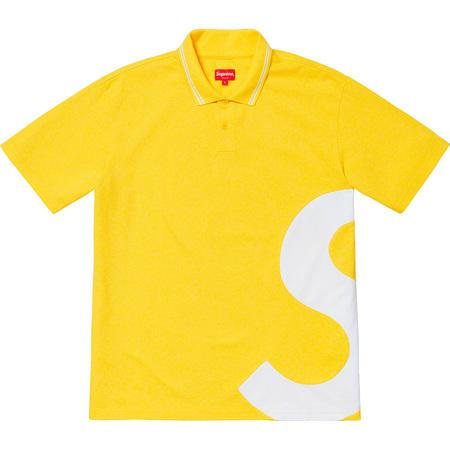 Supreme S Logo Polo- Yellow