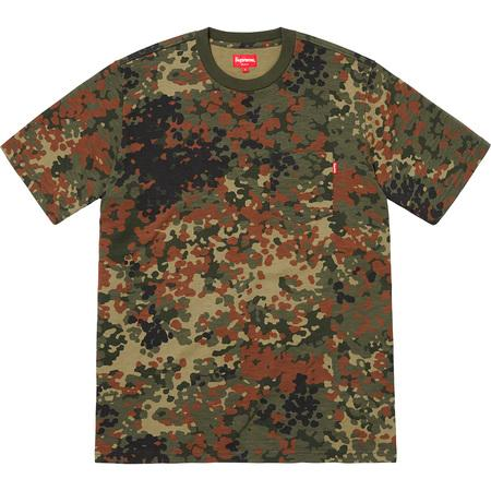 Supreme S/S Pocket Tee- Olive German Camo
