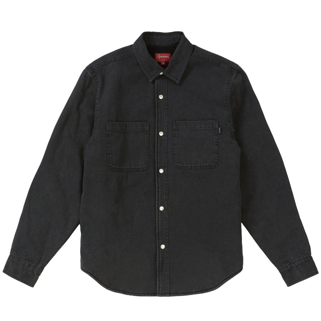 Supreme Sherpa Lined Denim Shirt- Black