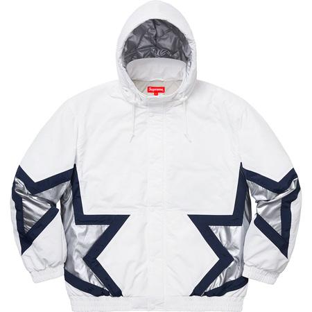 Supreme Stars Puffy Jacket- White