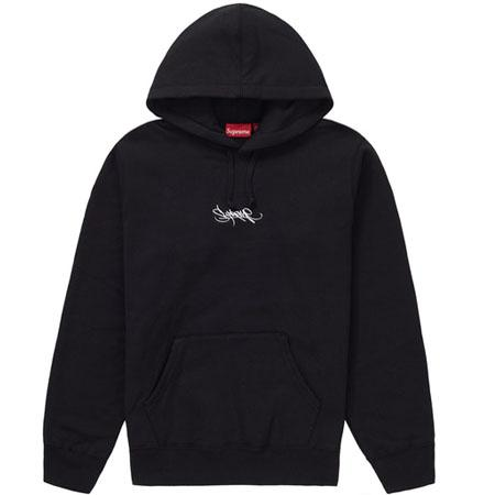 Supreme Tag Logo Hooded Sweatshirt- Black