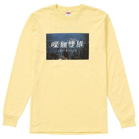 Supreme The Killer L/S Tee- Pale Yellow