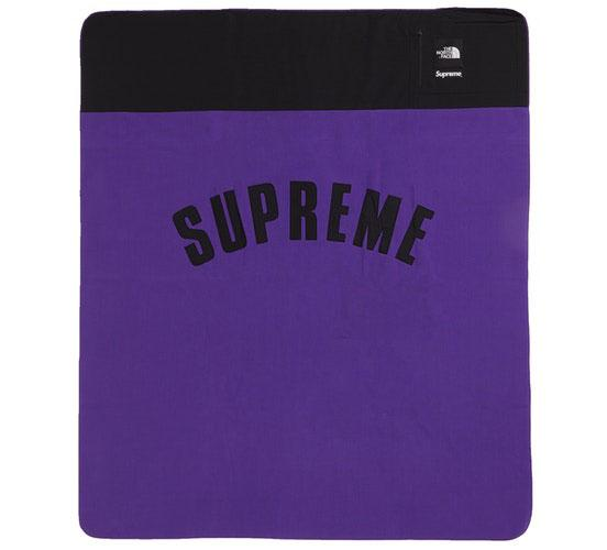 Supreme The North Face Arc Logo Denali Fleece Blanket- Purple