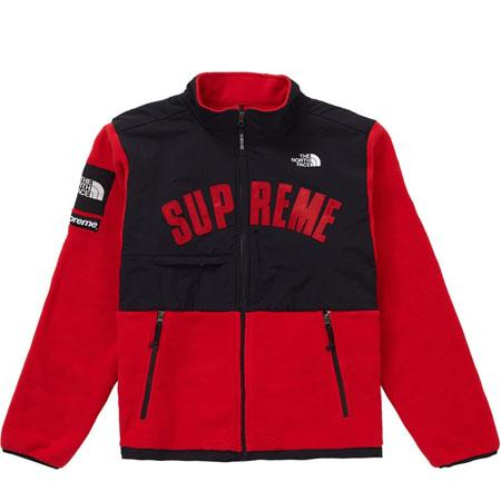 Supreme The North Face Arc Logo Denali Fleece Jacket- Red