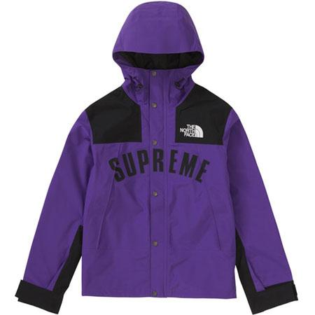 Supreme The North Face Arc Logo Mountain Parka- Purple