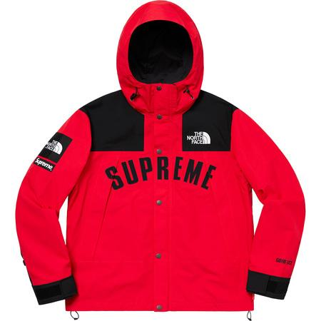 Supreme The North Face Arc Logo Mountain Parka- Red