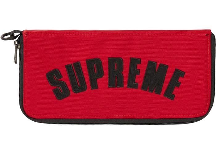 Supreme The North Face Arc Logo Organizer- Red