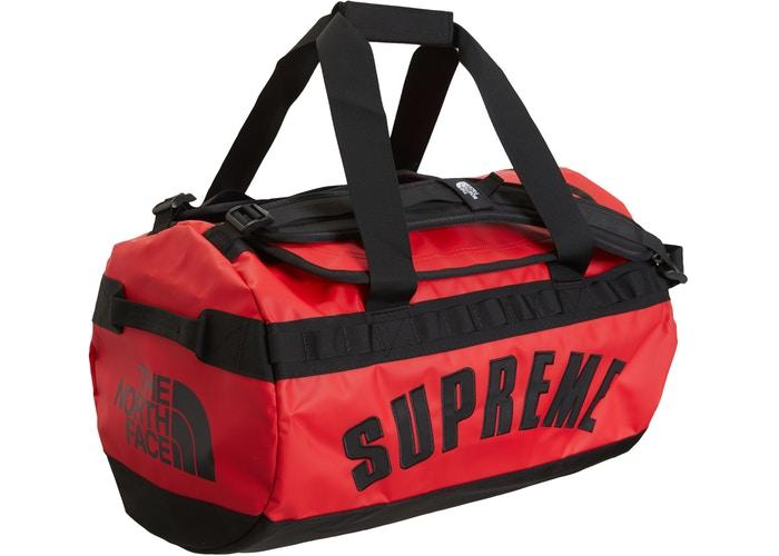 Supreme The North Face Arc Logo Small Base Camp Duffle Bag- Red