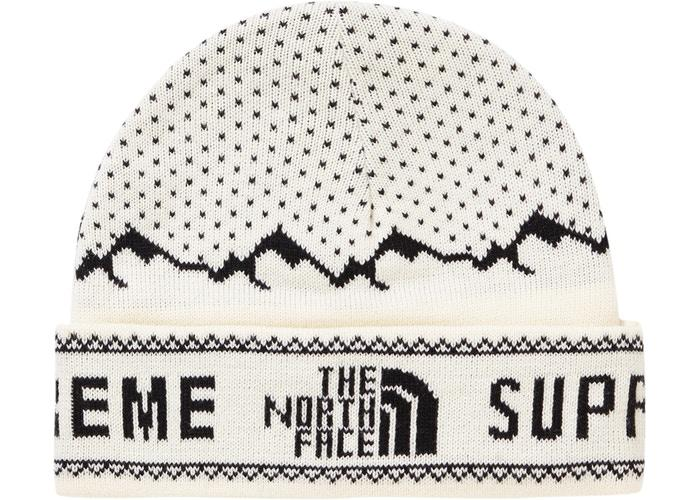 Supreme The North Face Fold Beanie- White