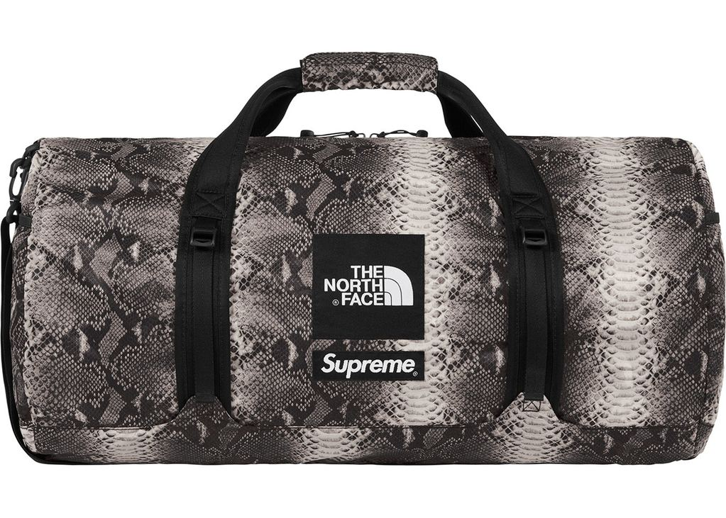 Supreme The North Face Snakeskin Flyweight Duffle Bag- Black