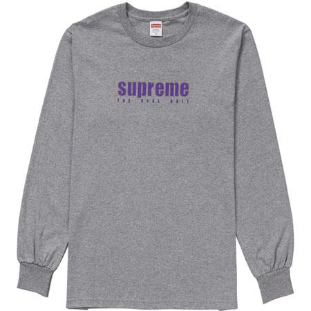 Supreme The Real Shit L/S Tee- Heather Grey
