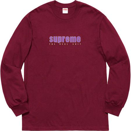 Supreme The Real Shit L/S- Burgundy