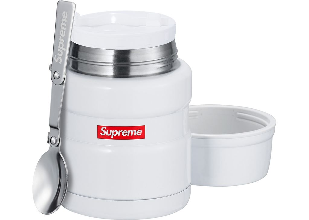 Supreme Thermos Stainless King Food Jar and Spoon- White