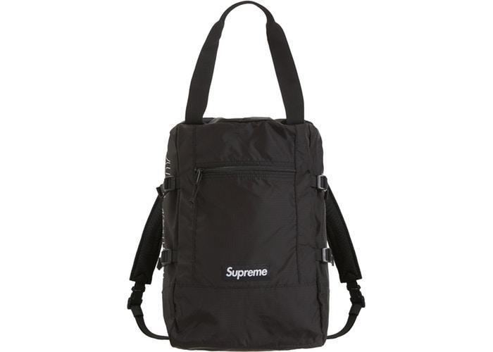 Supreme Tote Backpack- Black
