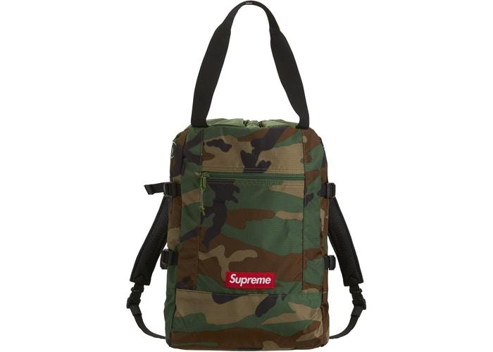 Supreme Tote Backpack- Woodland Camo
