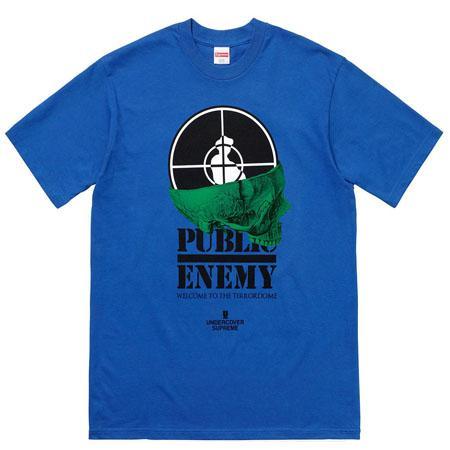 Supreme UNDERCOVER/Public Enemy Terrordome Tee- Royal