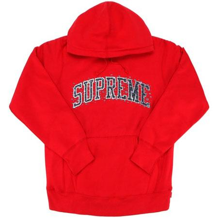 Supreme Water Arc Hooded Sweatshirt- Red