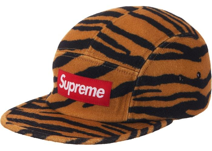 Supreme Wool Camp Cap SS19- Tiger Stripe