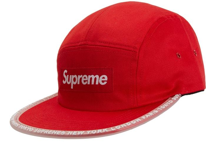 Supreme Worldwide Visor Tape Camp Cap- Red