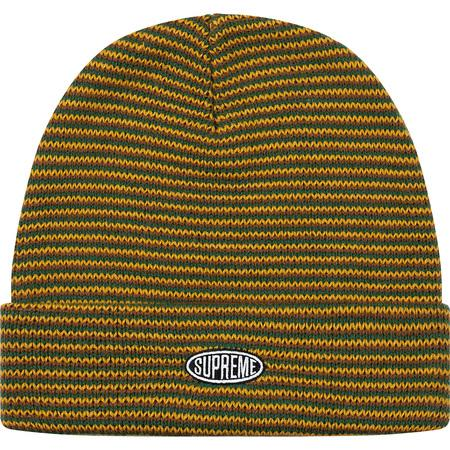 Supreme Zig Zag Stripe Beanie (FW19)- Dark Green