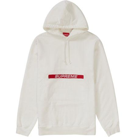Supreme Zip Pouch Hooded Sweatshirt- White